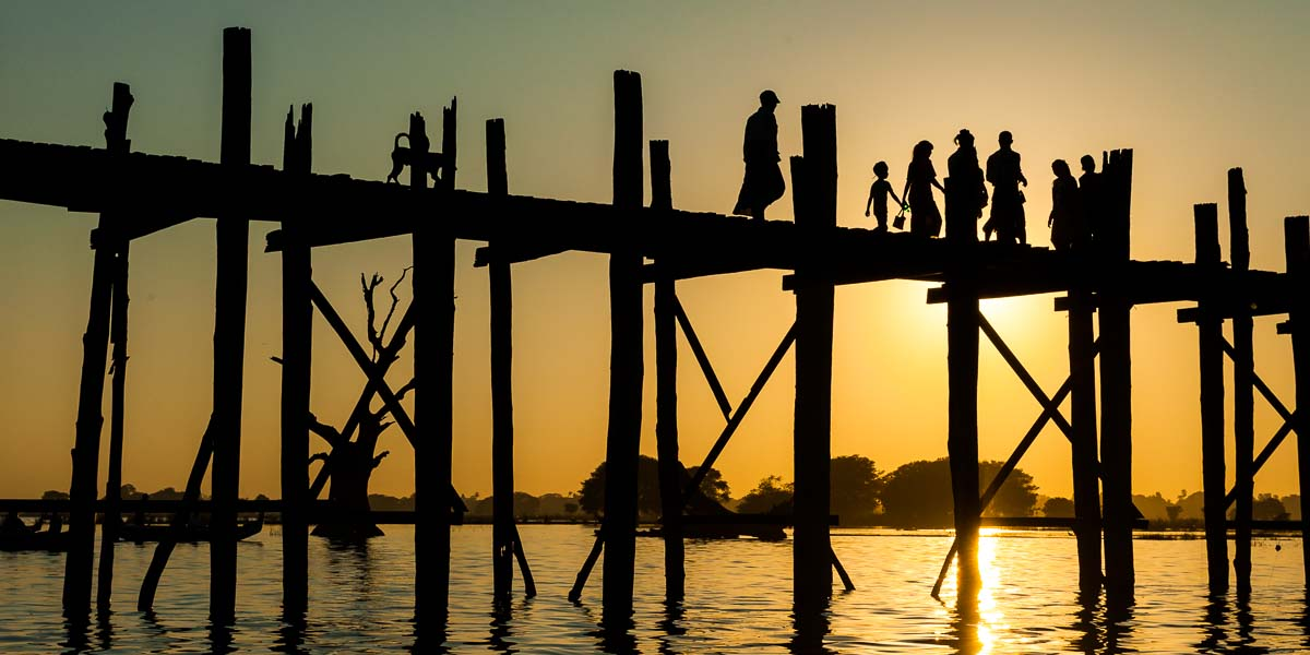 Ubein Bridge - Myanmar
